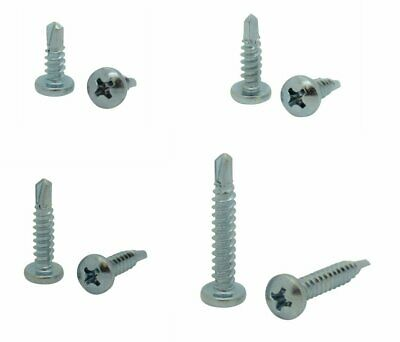 400 Qty Assorted 8 Zinc Pan Head Phillips Tek Self Drilling Sheet Metal Screws