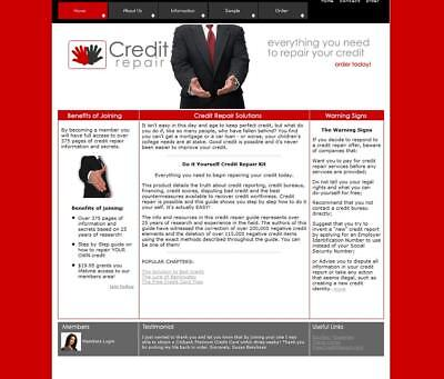 Make Money With Credit Repair Packages. Established Business Website For Sale.