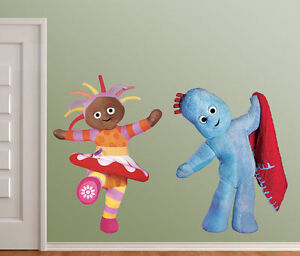 Marvelous In The Night Garden Upsy Daisy   Iggle Piggle Wall Art Vinyl STICKERS (both) Part 4