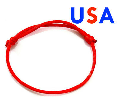 1X One Red Lucky Bracelet Kabbalah Evil Eye Jewelry String Adjustable  (String Bracelet)