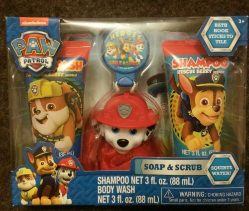 Paw Patrol Soap & Scrub Shampoo, Body Wash and Scrubby Toy Rescue Berry Scented