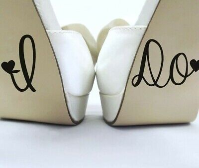 I Do - Wedding Decal Sticker - Bottom of Wedding Shoes, Coffee Mug, Wine Glasses