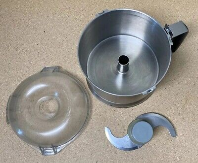 Robot Coupe R401 Stainless Steel Processor Bowl Sabatier Knife Blade Lid
