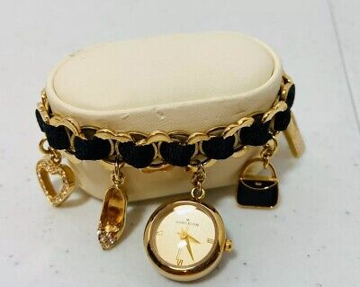 Anne Klein  Charm Bracelet Two Tone Watch
