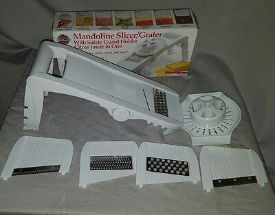 Norpro Mandoline Vegetable Fruit Slicer Grater Juicer With Guard #306