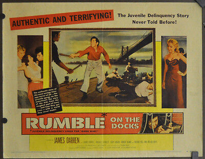 Rumble On The Docks 1956 Original 22X28 Movie Poster James Darren Laurie Carroll