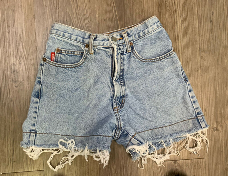 VTG Bongo Women's Distressed Shorts Size 1 Waist 25 Inches Made USA