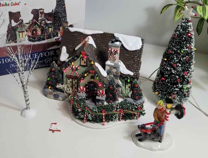 Dept 56 The Peppermint House Christmas Lane Snow Village 56.55350 Retired EUC