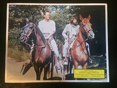 """RARE SIGNED VINTAGE LOBBY CARD 14X11 """"The last rebel """""""