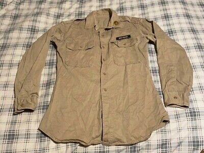1970s Mens Shirt Styles – Vintage 70s Shirts for Guys Vintage 1970's U.S Military Shirt Button Up Size Small $19.99 AT vintagedancer.com