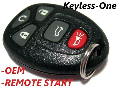07-14 GMC ACADIA DENALI KEYLESS ENTRY REMOTE OEM KEY FOB START OUC60270 5 BUTTON