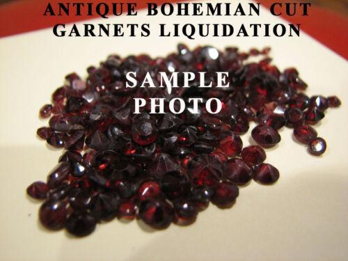 4mm Round Bohemian Antique Rose Cut Garnets Liquidation Everything Must Go SALE