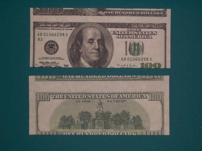 $100 1996 FRN Alignment Error Reproduction U.S. Currency Paper Money Copy