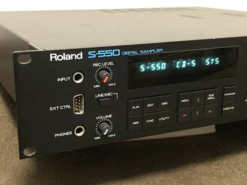 Roland S-550 Digital Sampler SCSI specification HD5-IF TESTED