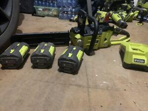 """Ryobi 14"""" cordless chainsaw 36v"""