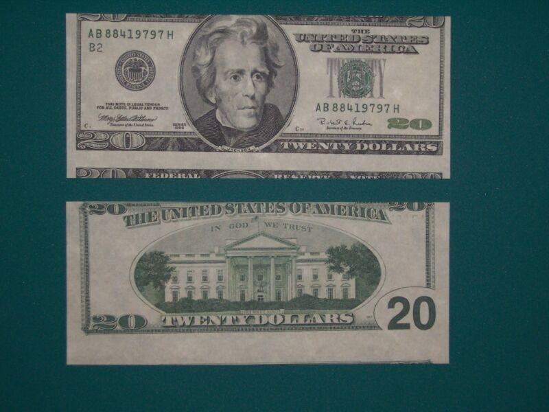$20 1996 FRN Alignment Error Reproduction U.S. Currency Paper Money Copy