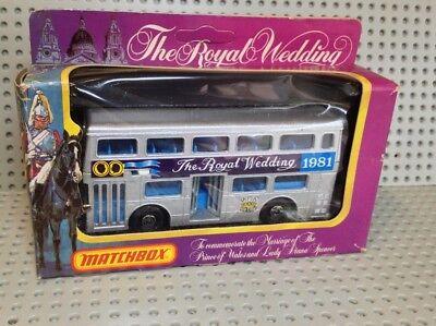Matchbox  ROYAL WEDDING 1981 Ltd Edition London Bus  BOXED