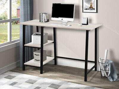 48 Home Office Desk Computer With Pc Table W Storage Shelves Wood Metal Desk
