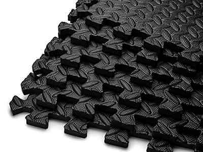 HemingWeigh Puzzle Exercise Mat EVA Foam Interlocking Tiles,