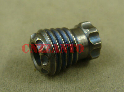 "Titanium bomb shaped ""Old blue"" Lanyard Bead Paracord Knife Tool Zipper pull"