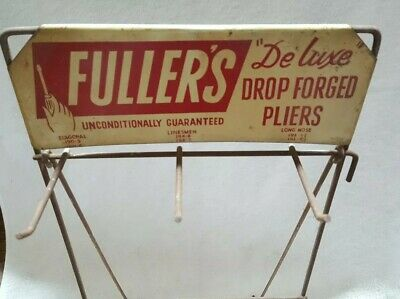 Advertising Metal Store Display Rack For Fullers Forged Pliers
