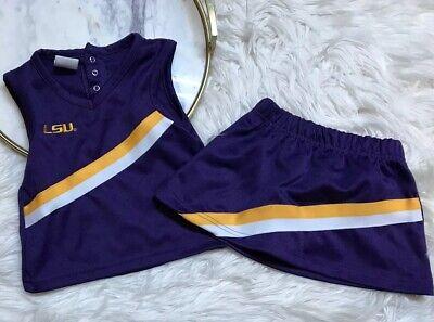 Rivalry Threads 91 Toddler Girls LSU Cheerleader Uniform Size 18 Months  - Toddler Cheerleading Uniforms
