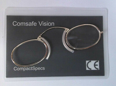 Metal Frame Compact Specs Reading Glasses Pince Nez type for any emergency +2.50