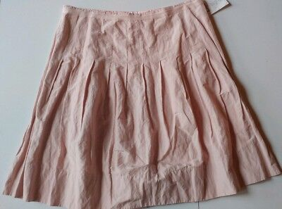CAbi Pleated Lined Skirt Blush Pink Centre Court Style #521 Frosting NWT Size 12