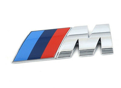 GENUINE BMW ///M-SPORT EMBLEM LOGO BADGE M-TECH Chrome Universal 51148058881 Bmw M-sport-emblem