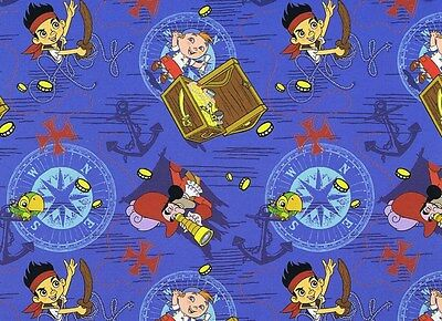 Jake And The Neverland Pirates Fabric (Fat Quarter Disney Jake And The Neverland Pirates Ahoy Cotton Quilting)