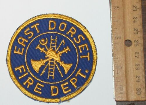 Very Old EAST DORSET FIRE DEPT Vermont VT FD Vintage patch