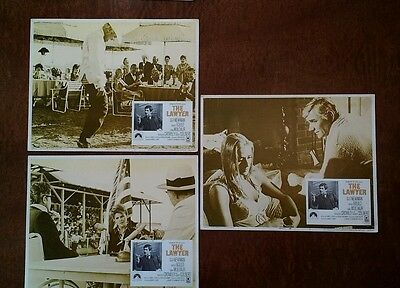 Rare 1970 Lobby Cards (3) - The Lawyer - 11x14, Barry Newman, Harold Gould