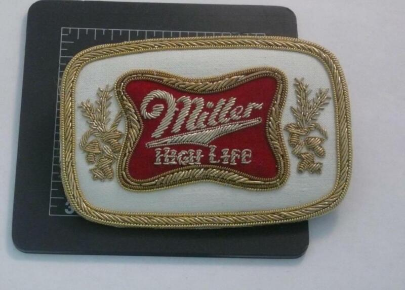 Terrific Miller High Life Beer Bullion Patch / Pin