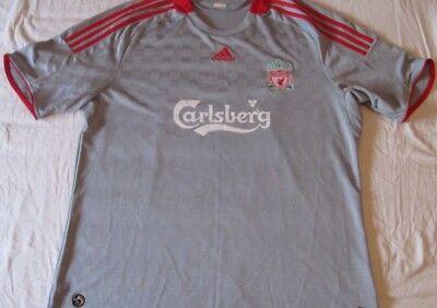 Grey Away Trikot (Shirt Camiseta Trikot LIVERPOOL Adidas Away Grey Size XL 2008 Season)