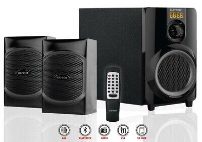 2.1 Soundsystem Heimkino Bluetooth USB MP3 Lautsprecher Subwoofer TV PC
