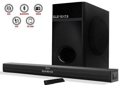 Elements TV Soundbar Heimkino Home Cinema Bluetooth USB Lautsprecher Subwoofer