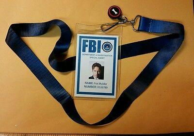 X-files TV Series Lanyard & ID Badge-Fox Mulder Licensed costume cosplay prop