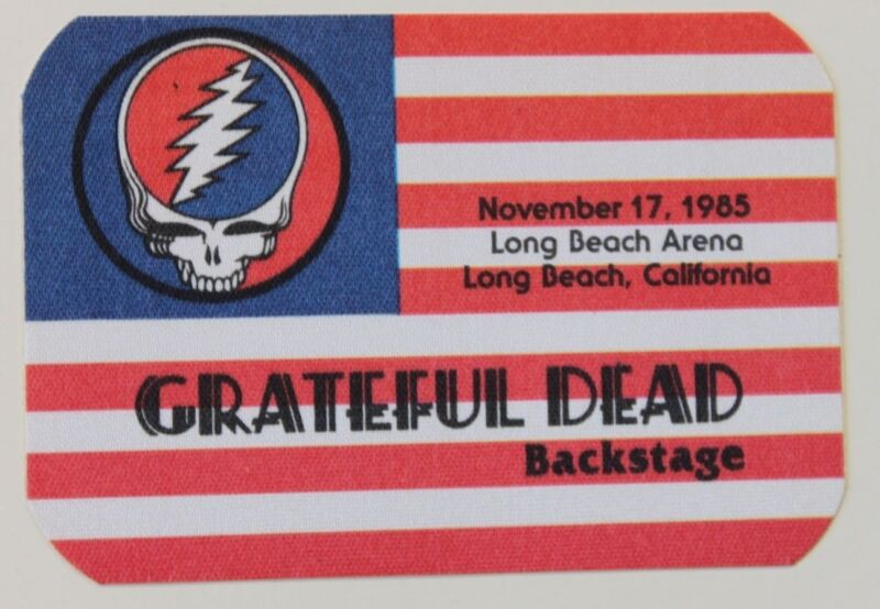 Grateful Dead Backstage Pass 11-17-85 Long Beach Arena