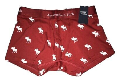 NWT Men's ABERCROMBIE & FITCH Moose Boxer Brief. Sz Large & Red.