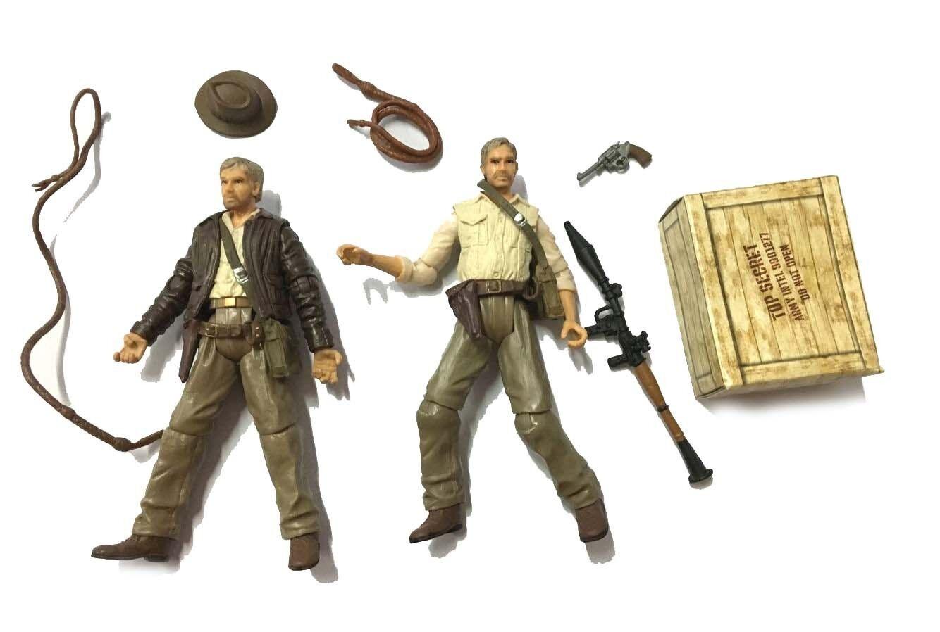 "2Pcs Indiana Jones 3.75/"" Kingdom of the Crystal Skull hasbro Figure gift toy"