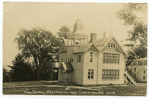 RPPC-NY-Adirondacks-Westport-High-School-1914-Lake-Champlain-Essex-County