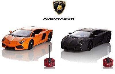 Official Lamborghini Aventador Boys Kids Remote Control Car Scale 1.24 - 27Mhz