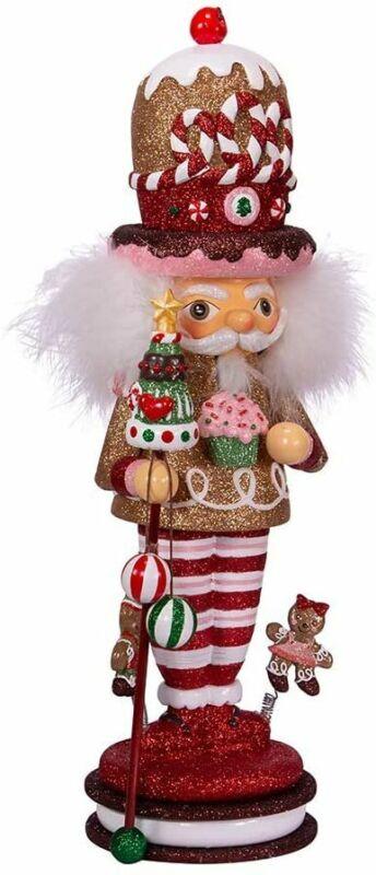 Kurt S. Adler 16.5-Inch Hollywood Gingerbread King Nutcracker, Multi