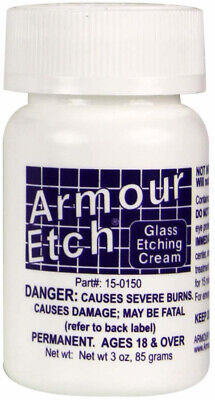 Glass Etching Cream by Armour Etch: Chemical Acid Etching Bottle (2.8, 10, or 22 Armour Etch Glass Etching Cream