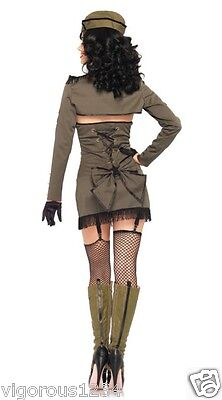 Vintage Army Green Pin-Up Girl Sexy Women's Adult - Pin Up Army Girl Kostüm