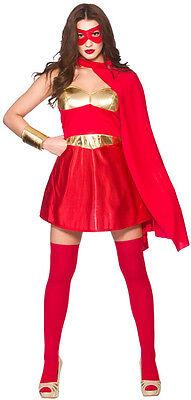 Hot Superhero Damenkostüm rot NEU - Damen Karneval Fasching Verkleidung Kostüm ()