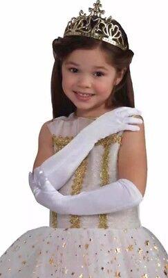 Satin Lange Handschuhe Weiß Kind Kinder Mädchen Kostüm (Weiße Handschuhe Oper)