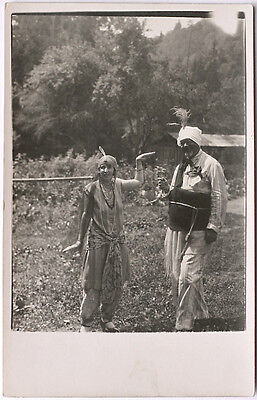 Echtes Original 20er J. Paar in exotischen Kostümen, Schauspieler, - Original Paare Kostüm