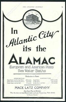1922 Alamac Hotel Atlantic City illustrated vintage print ad