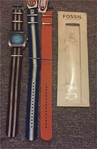 Fossil Watch with 3 Straps Glenorchy Glenorchy Area Preview